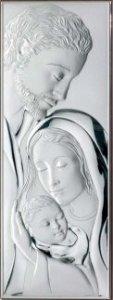 Srebrny obrazek RYNGRAF ŚLUB CHRZEST ŚWIĘTA RODZINA