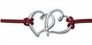 Bransoletka srebrna na rzemyku miłość LOVE próba 925 etui gratis !