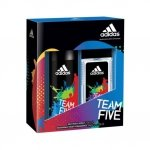 Adidas Team Five Deo Body Spray 150 ml + Deodorant Body Fragrance 75 ml