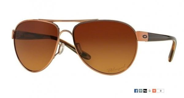 Oakley Disclosure Rose Gold/Brown Gradient Polarized OO 4110-05