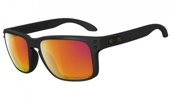 Oakley HOLBROOK. Matte Black/Ruby Iridium Polarized OO9102-51