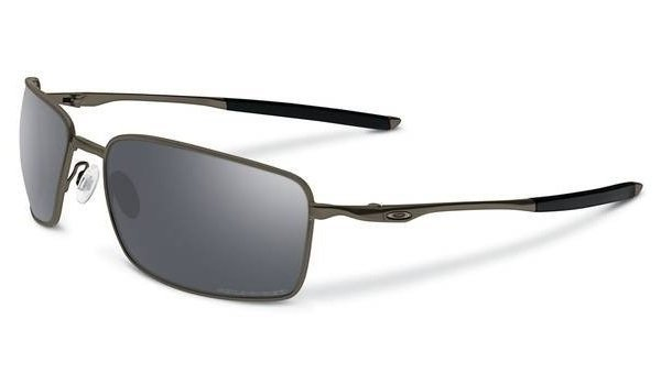 Oakley TITANIUM SQUARE WIRE Pewter/Black Iridium Polarized OO6016-02