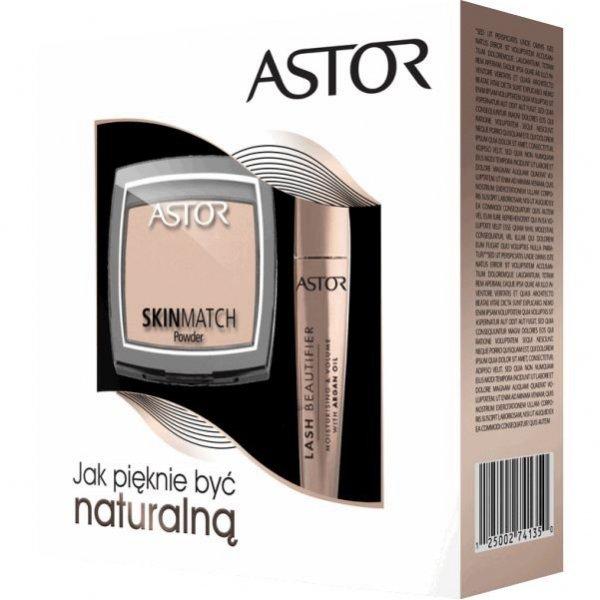 Astor BOX Puder Skin Match & Maskara Lash Beautifier