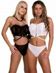 Bustier and Brief White M