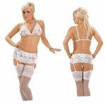 Roxana Open bra, suspenderbelt and string M/White