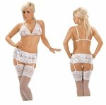 Roxana Open bra, suspenderbelt and string L/White