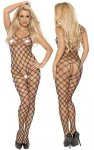 Roxana Fishnet catsuit S-M/Black
