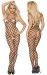 Fishnet catsuit L-XL/black