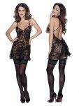 Roxana Mini dress and string XXL/black