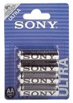 SONY BAT/ZINC BT 4PCS AA 12x4