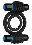 OPTIMALE VIBR DOUBLE C-RING BLACK