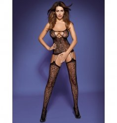 Bodystocking F208 czarne S/M/L