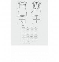 Dressita sukienka i stringi czarne L/XL