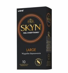 Prezerwatywy Unimil SKYN Large nielateksowe (1op./10szt.)
