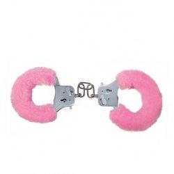 Furry Fun Cuffs Pink Plush