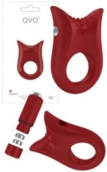 Pierścień erekcyjny Ovo B2 Vibrating Ring Red