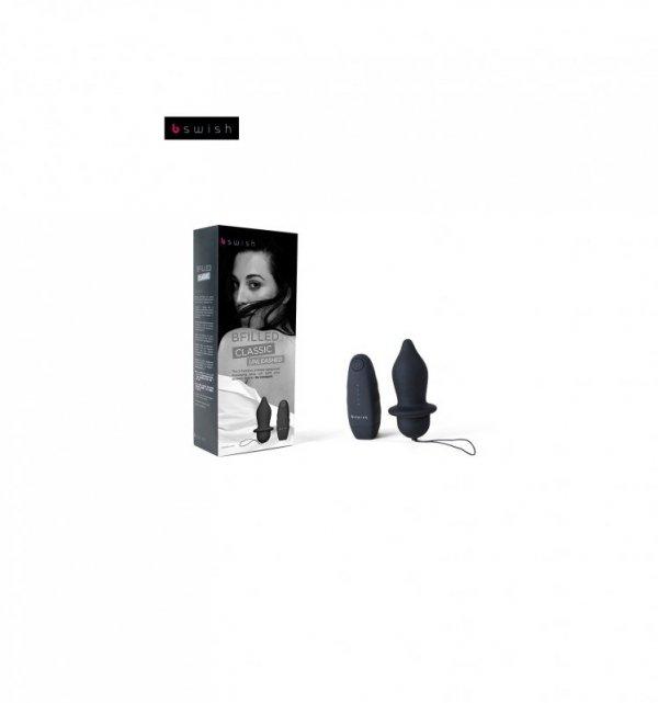 Korek analny B Swish - Bfilled Classic Unleashed, czarny