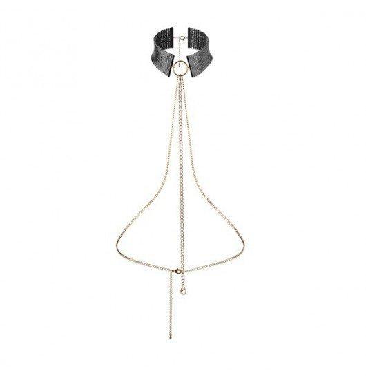 Obroża Bijoux Indiscrets - Metallic mesh black collar