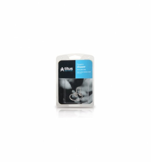 Pierścień z kulką Titus Range: Sperm Stopper Double 25mm
