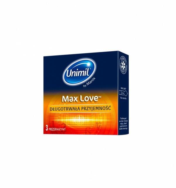 Prezerwatywy Unimil Max Love (1op./3szt.)