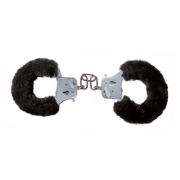 Furry Fun Cuffs Black Plush