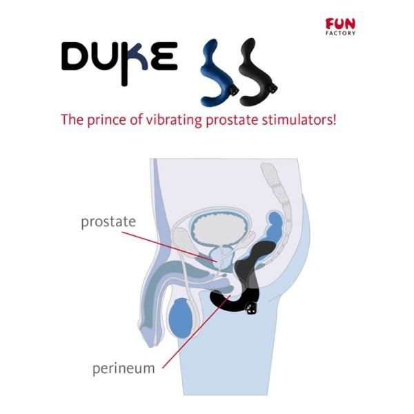Stymulator prostaty FUN FACTORY DUKE CNC, granatowy