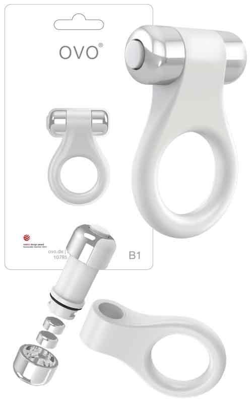 Pierścień erekcyjny Ovo B1 Vibrating Ring White