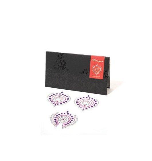 Nakładki na sutki Bijoux Indiscrets - Flamboyant, różowo-fioletowe