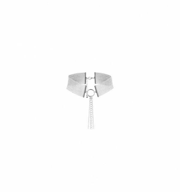 Naszyjnik-obroża z łańcuchem Bijoux Indiscrets Magnifique (srebrny)