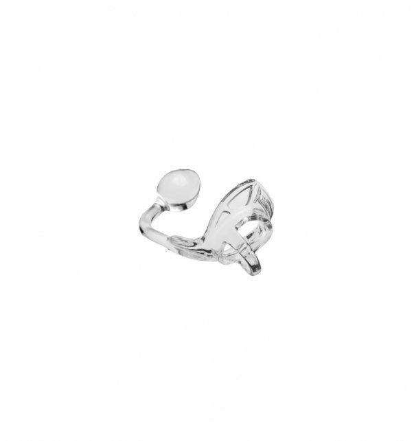 Pierścień z kulką analną Perfect Fit - Armour Tug Lock Clear