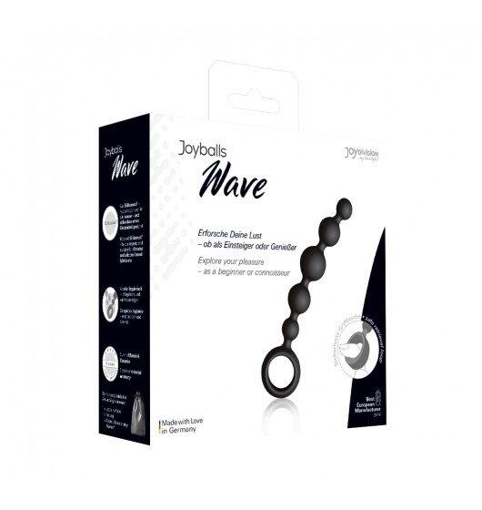 Kulki analne Joyballs anal Wave (krótkie, czarne)
