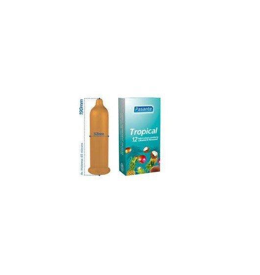 Prezerwatywy Pasante - Tropical Flavours (1 op. / 12 szt.)
