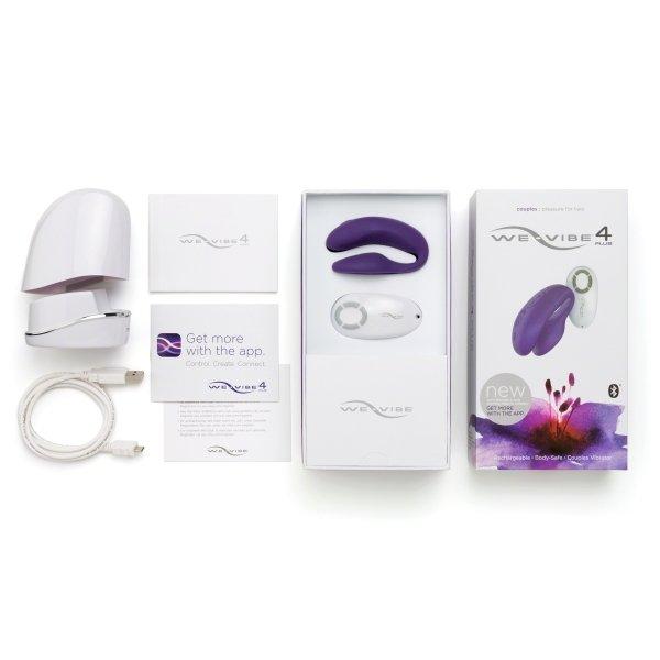 Wibrator dla par We-Vibe 4 Plus, fioletowy
