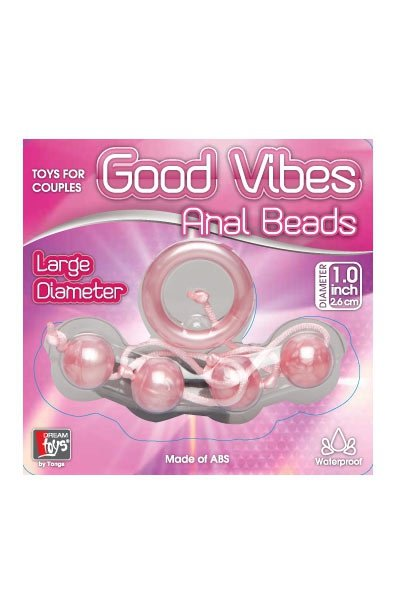 Marble Collection Anal Beads Large Pink