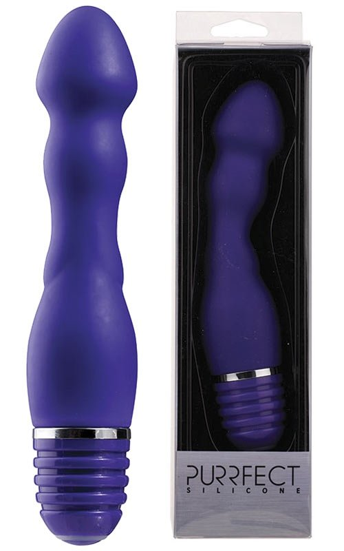 Purrfect Silicone Anal Vibe 6Inch Purple