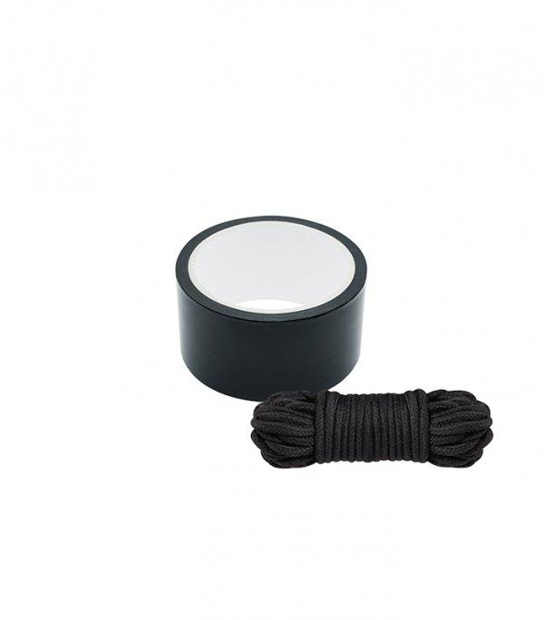 Bondx Bondage Ribbon and Love Rope Black