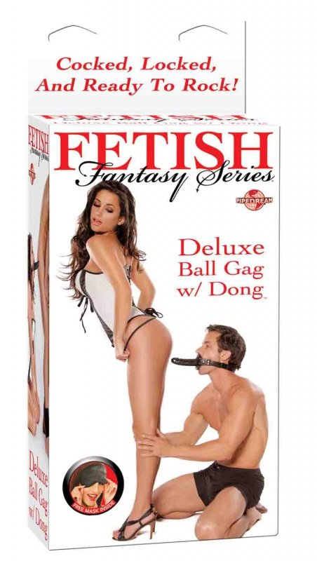 Ffs Ball Gag With Dildo Black
