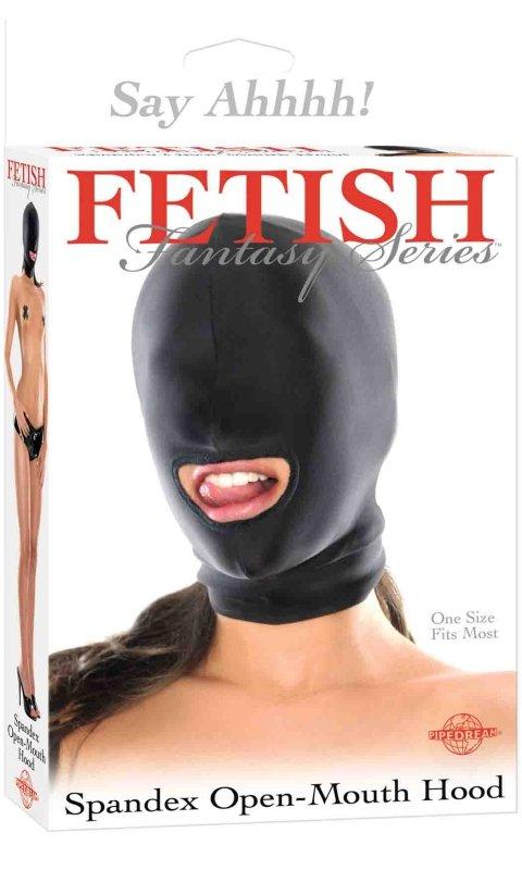 Ffs Spandex Open Mouth Hood Black