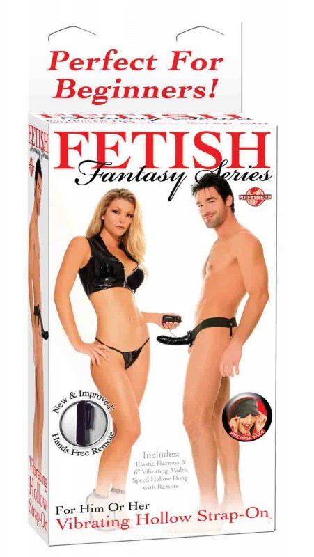 Ff Vibrating Hollow Strap On - Blac