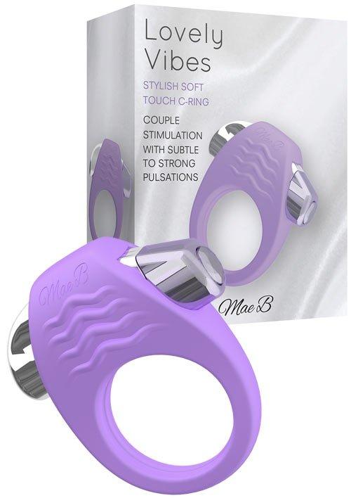 Stylish Soft Touch C-Ring Purple