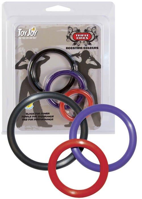 Triple Rings Multicolor 3pcs.