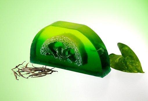 Mydło Zielona herbata loofah 100g