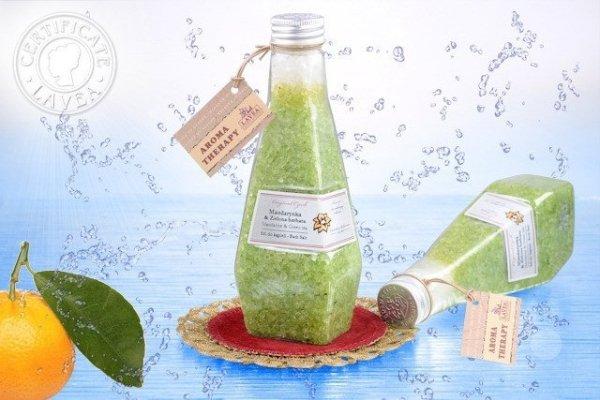 Sól do kąpieli mandarynka & zielona herbata  240ml