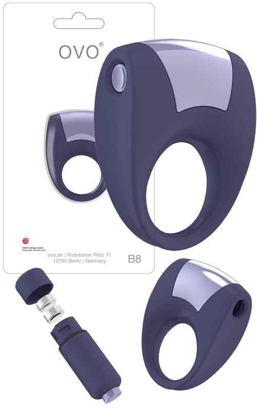 Pierścień erekcyjny Ovo Ring B8 Cool Lilac