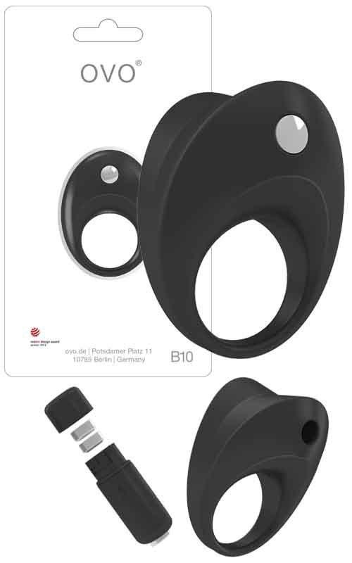 Pierścień erekcyjny Ovo B10 Vibrating Ring Black