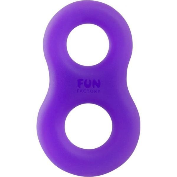 Pierścień erekcyjny FUN FACTORY 8ight, fiolet-turkus