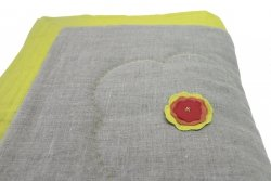 Narzuta na łóżko SASHIKO limonka