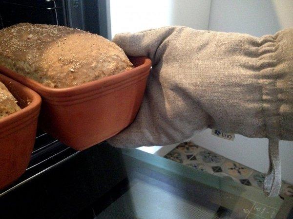 Rękawica kuchenna z koronką