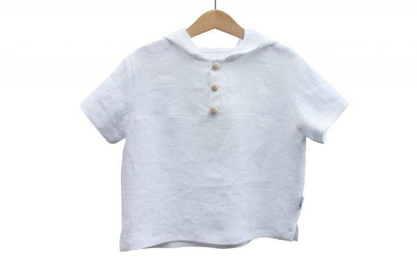 Koszulka z kapturem (biała) r. 110/116