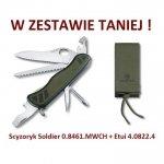 Victorinox Scyzoryk Soldier 0.8461.MWCH + Etui 4.0822.4
